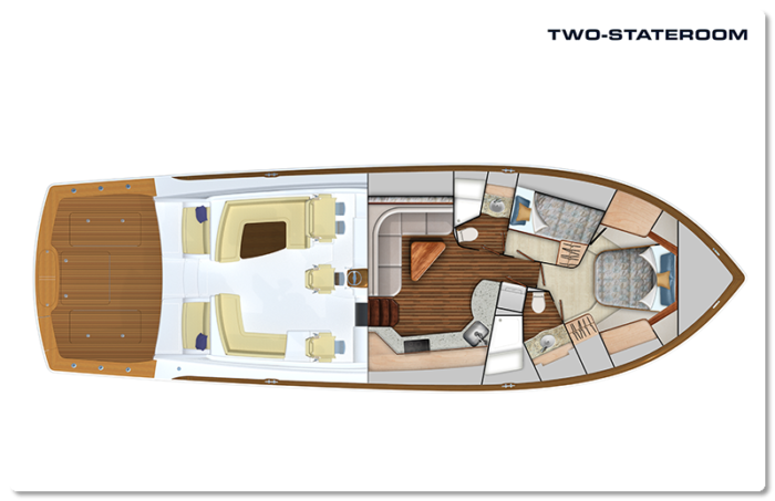 Viking 54 two stateroom layout