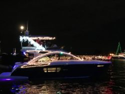 decorated yacht