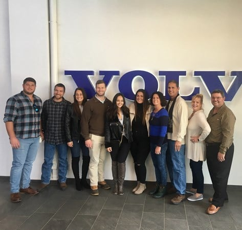 Galati family visits Volvo factory in Sweden