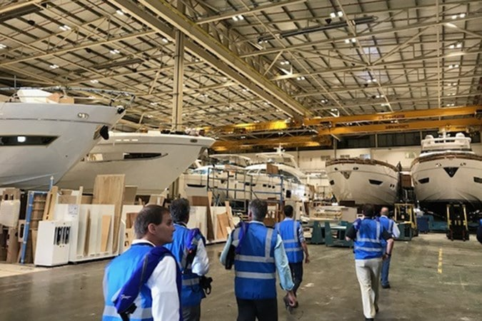 Galati Yacht Sales at yacht factory