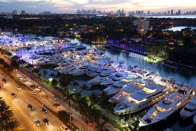 Miami Yacht Show 2018 on Collins Avenue