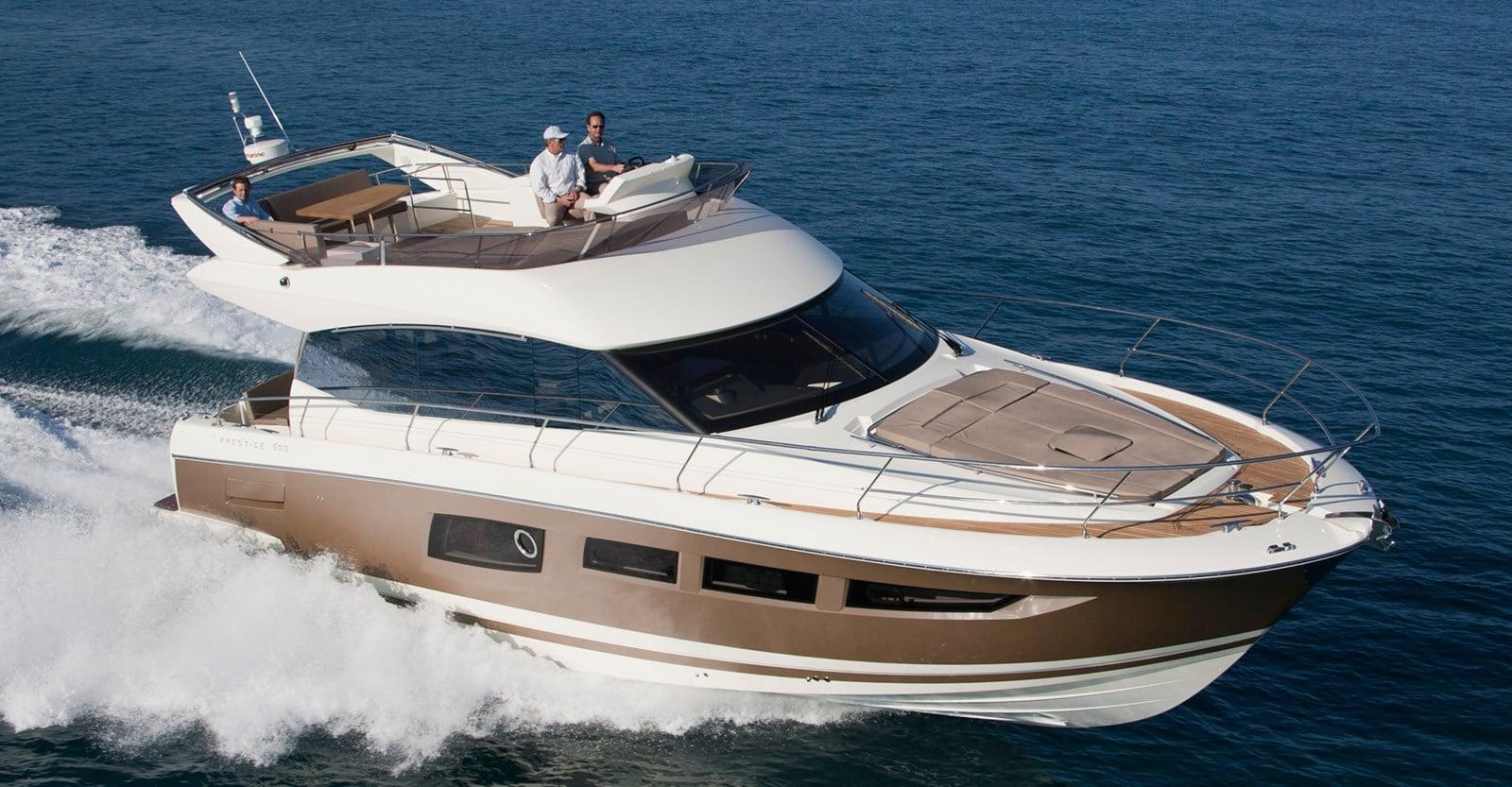 new prestige 500 flybridge yacht running