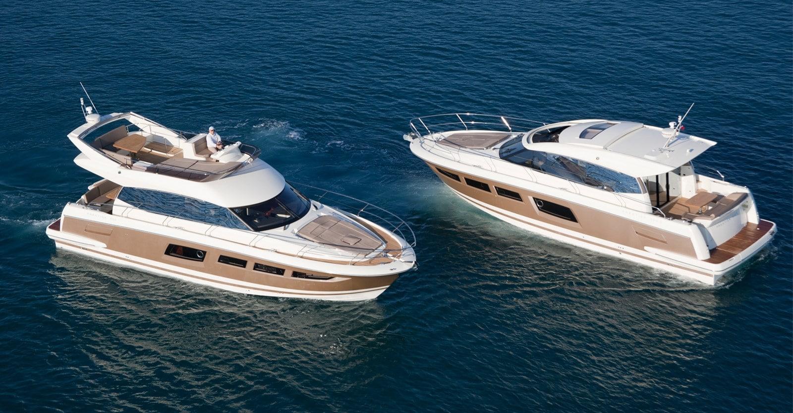 new prestige 500 flybridge yacht yacht idle