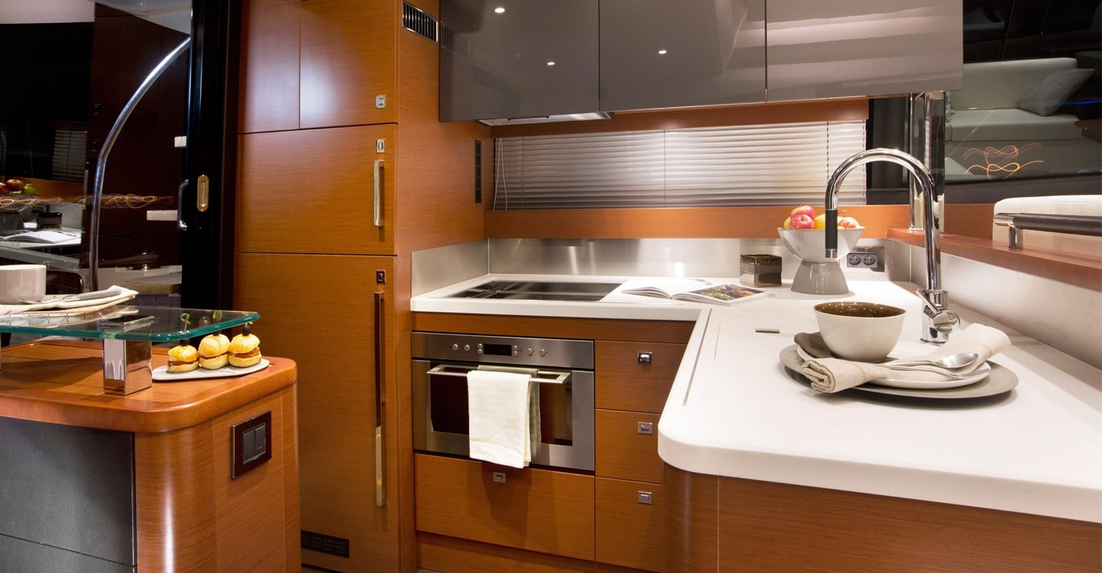 new prestige 560 yacht galley
