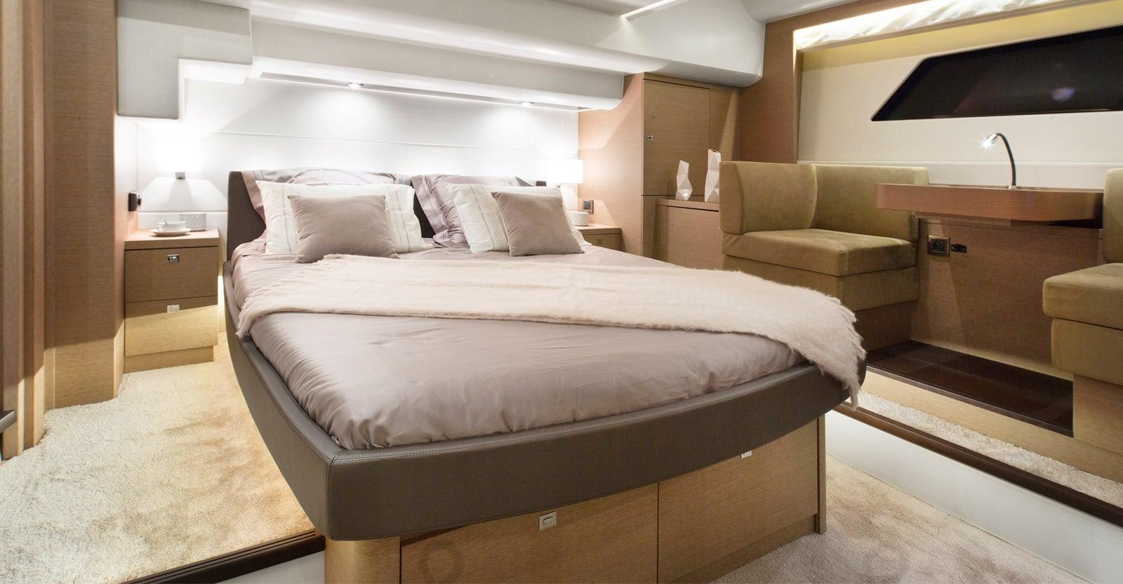 new prestige 560 yacht master stateroom