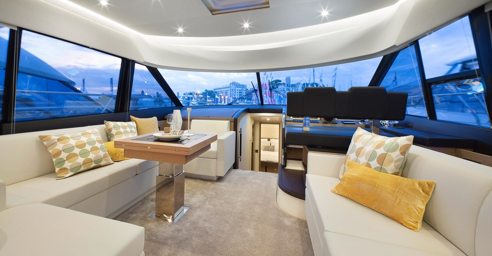 new prestige 560 yacht seating
