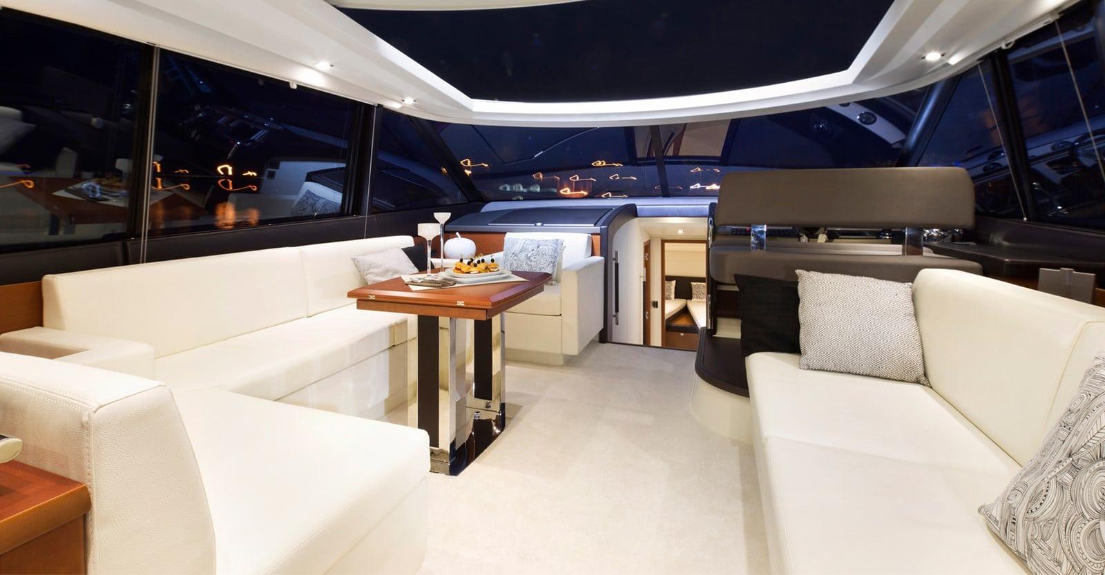 new prestige 560s yacht dinette
