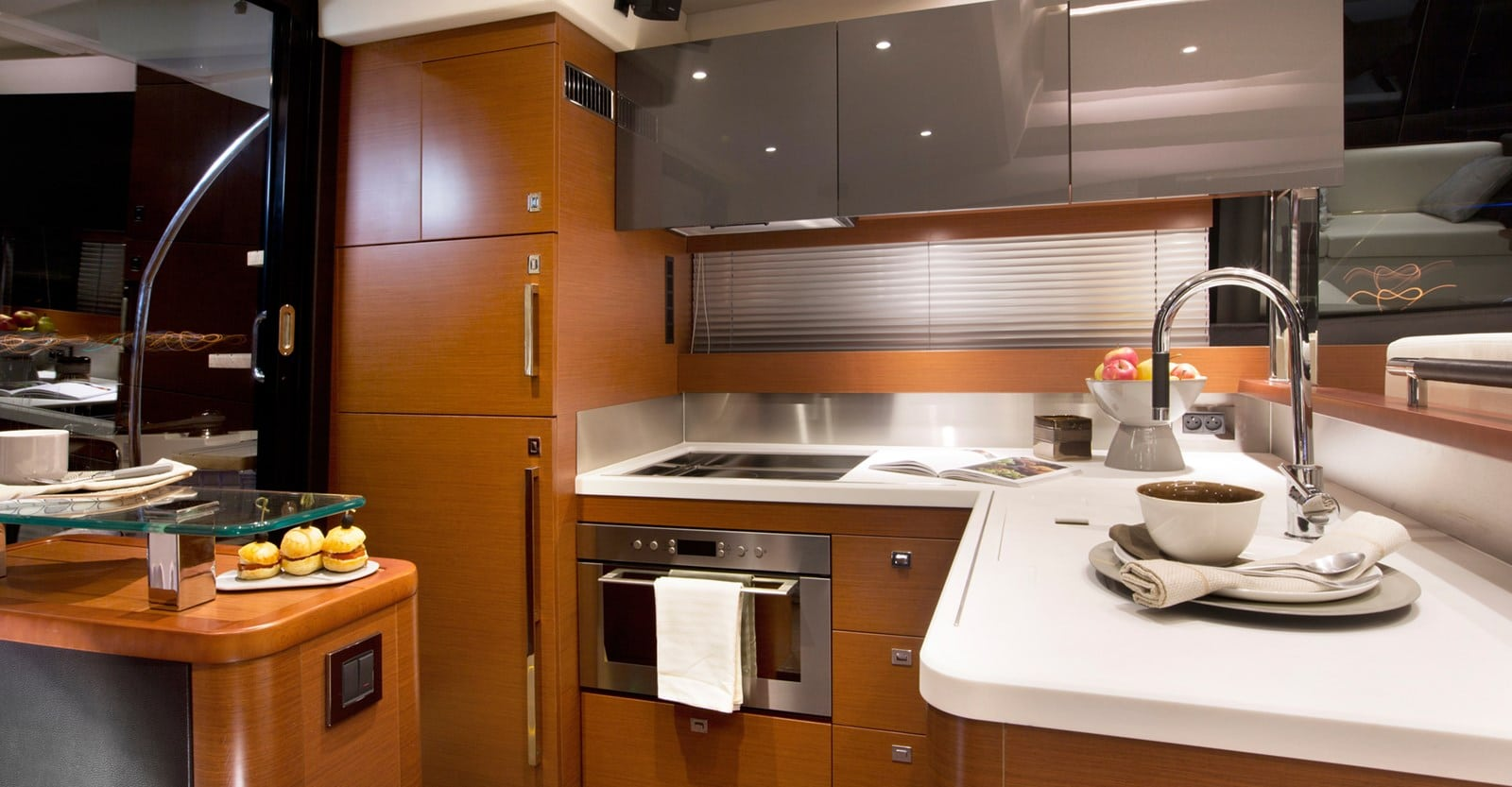 new prestige 560s yacht galley