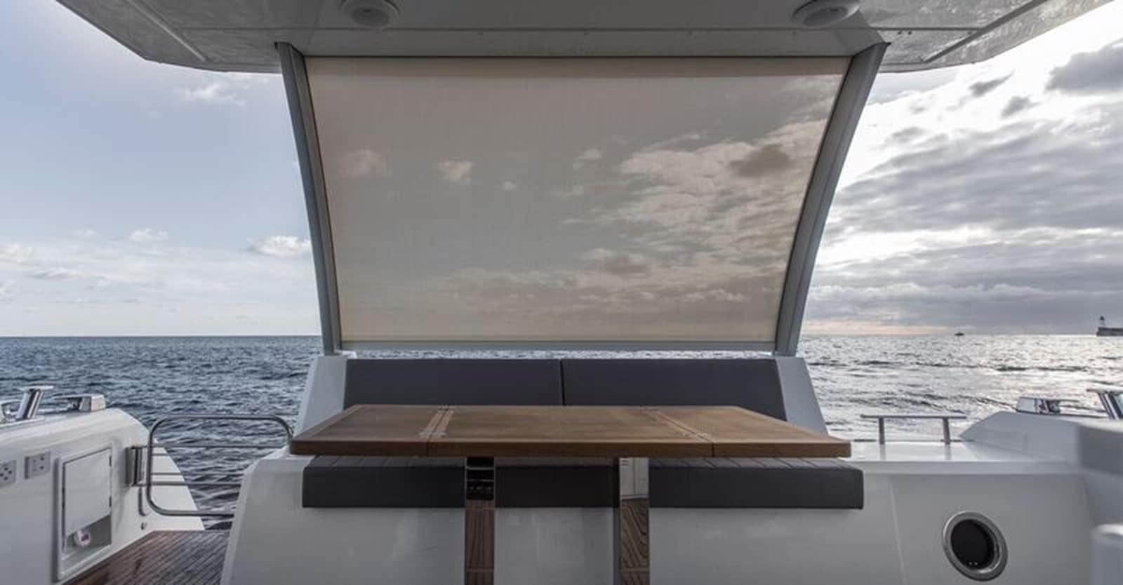 new prestige 630 yacht aft deck