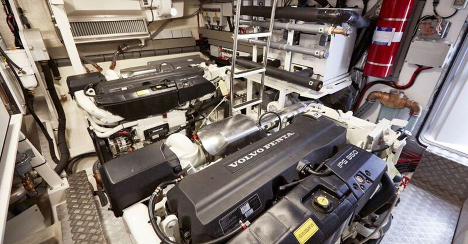 new prestige 630 yacht engine room