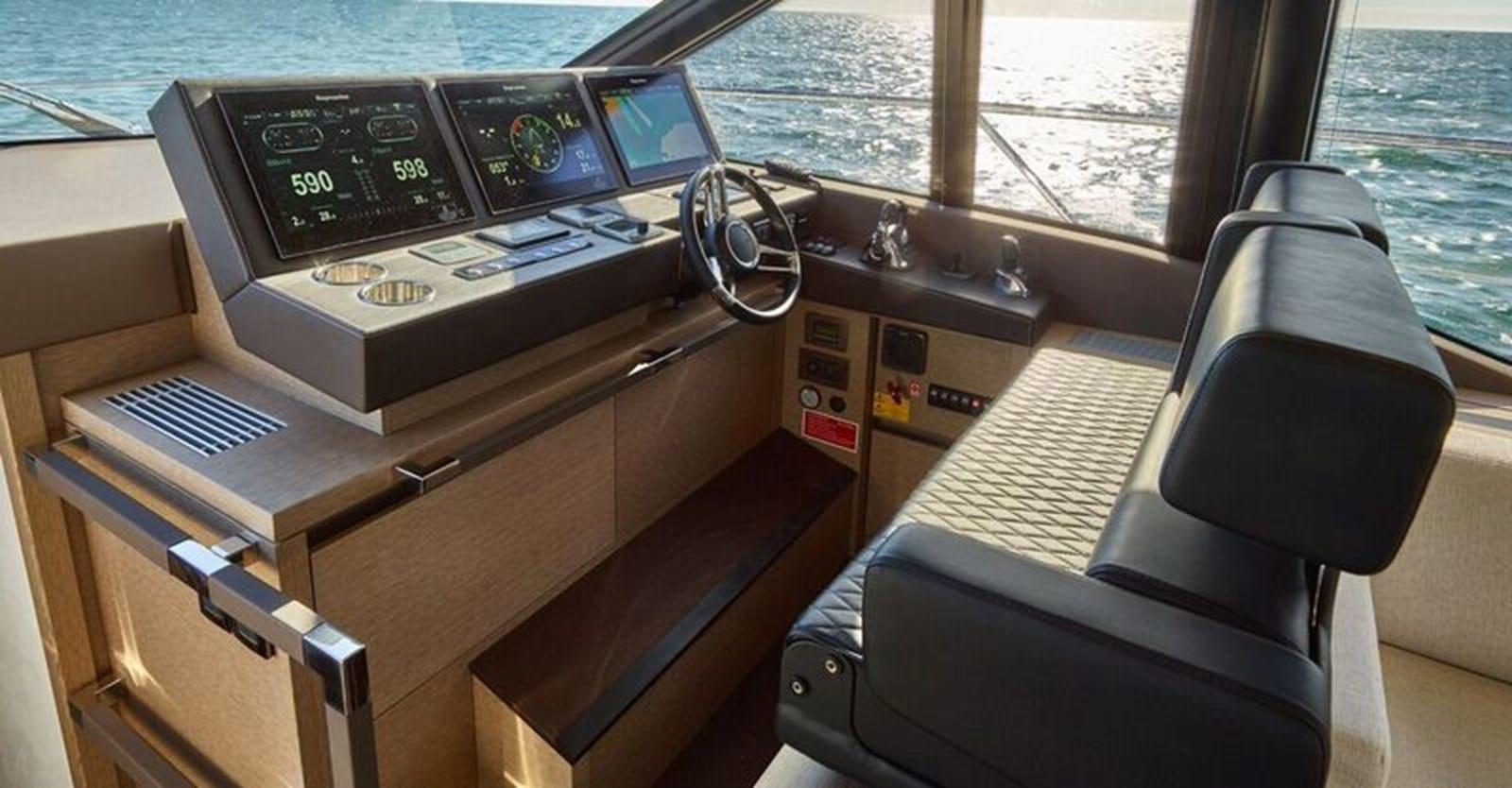 new prestige 630 yacht lower helm