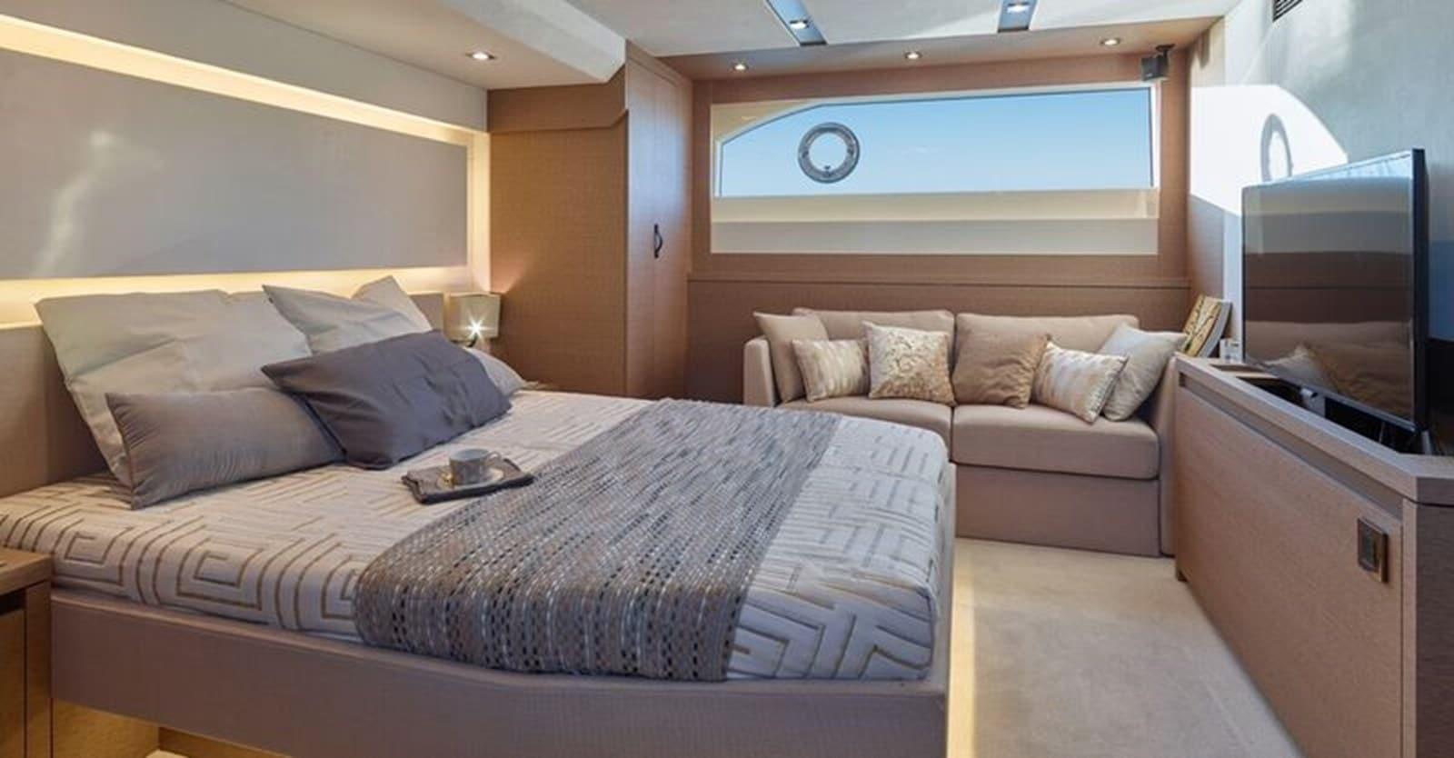 new prestige 630 yacht master stateroom