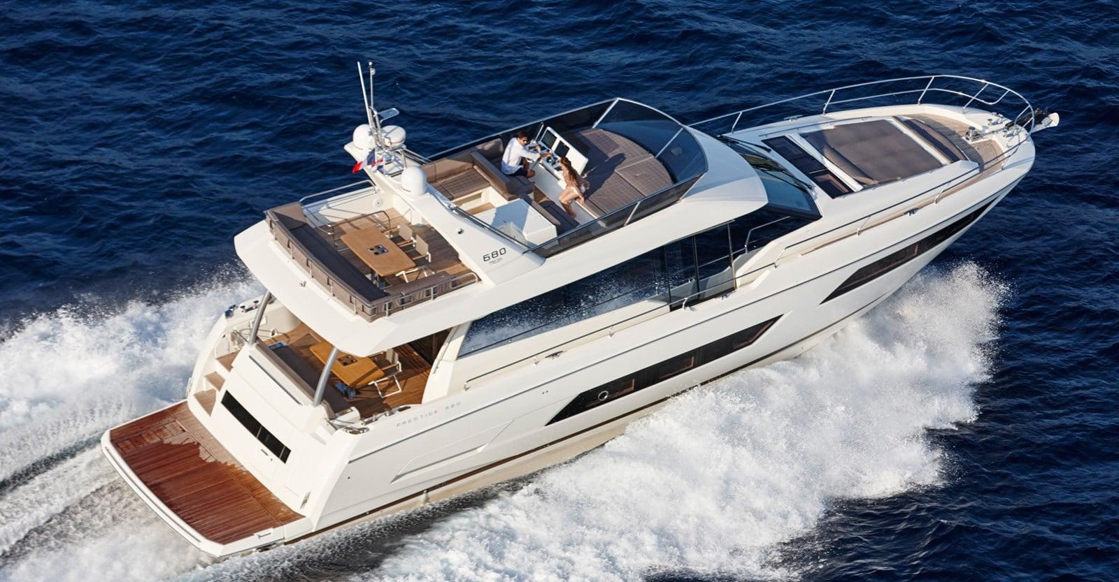 new prestige 680 yacht running