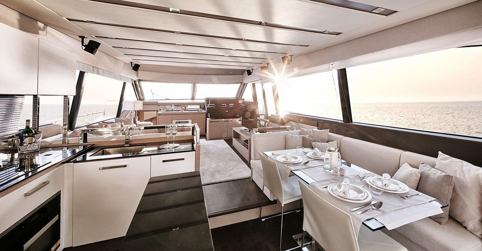 new prestige 680 yacht salon view