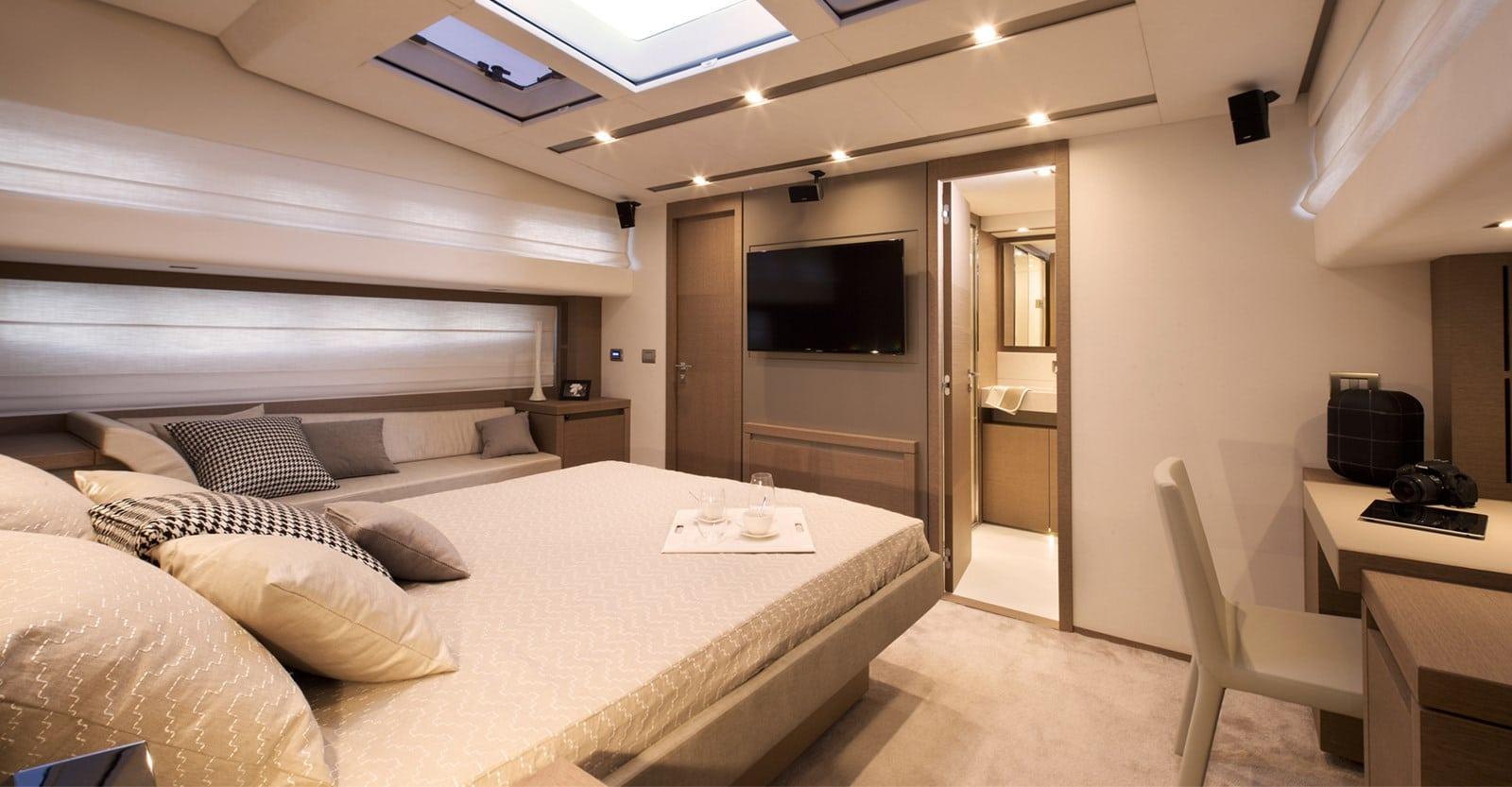 new prestige 750 yacht master stateroom