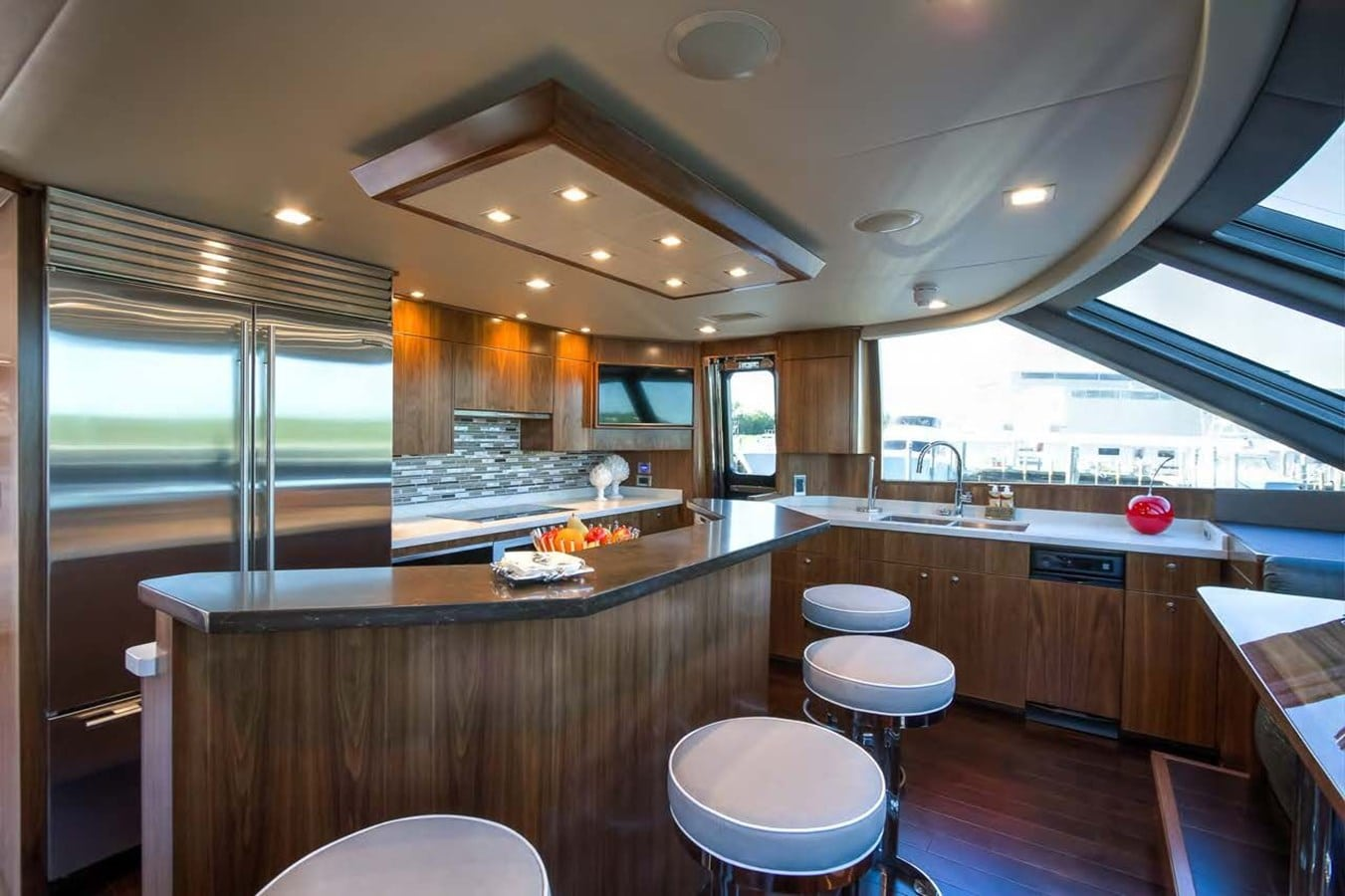 new viking 93 motor yacht galley