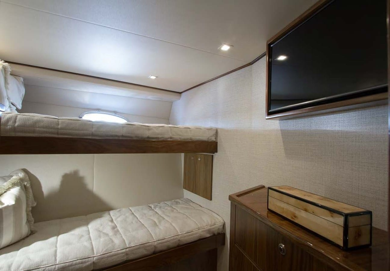 new viking 93 motor yacht guest stateroom