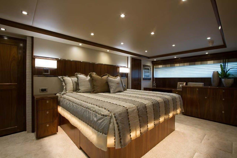 new viking 93 motor yacht master stateroom