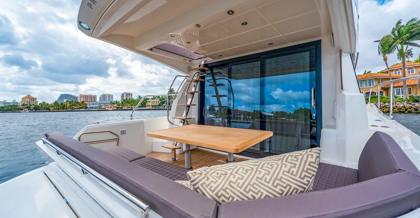 prestige 460 yacht aft deckjpg