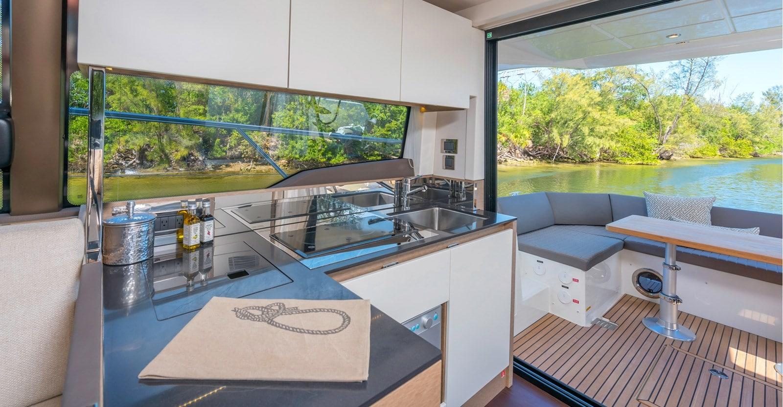 prestige 460 yacht galleyjpg
