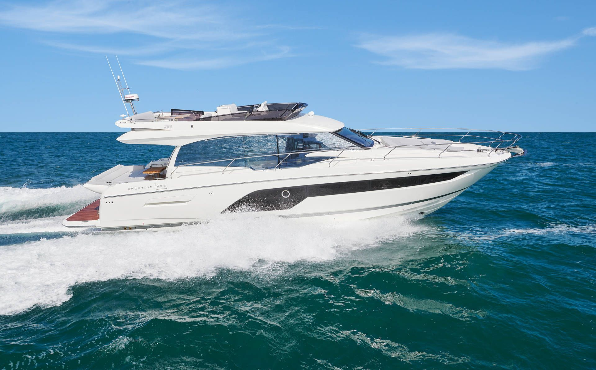 prestige 590 flybridge yacht for sale