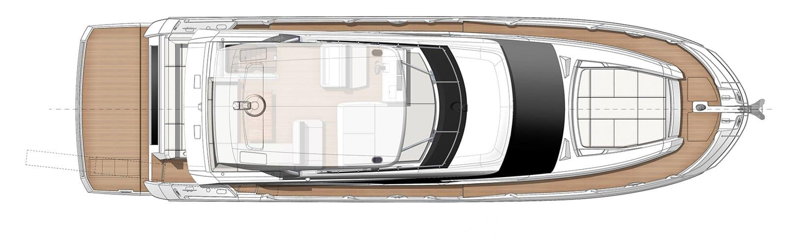 prestige yacht 520s yacht bridgelayout