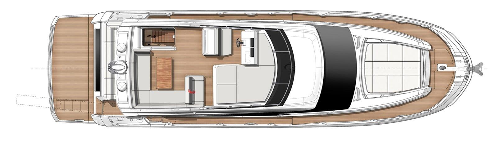 prestige yacht 520s yacht layout