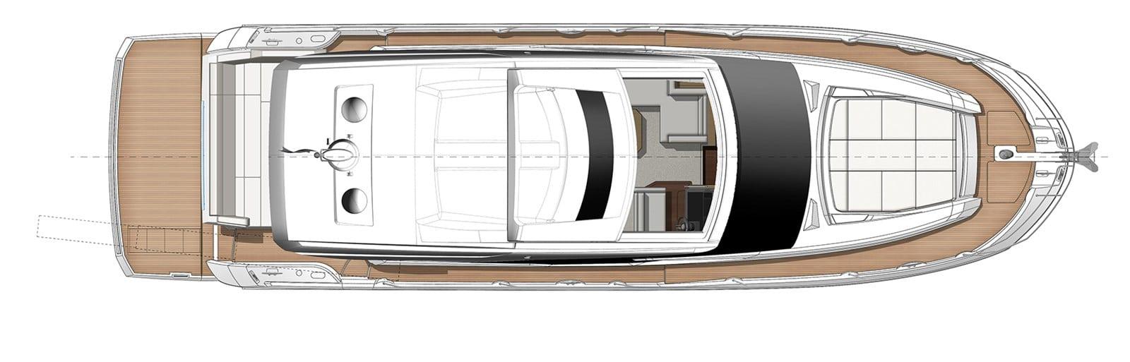 prestige yacht 520s yacht rendering