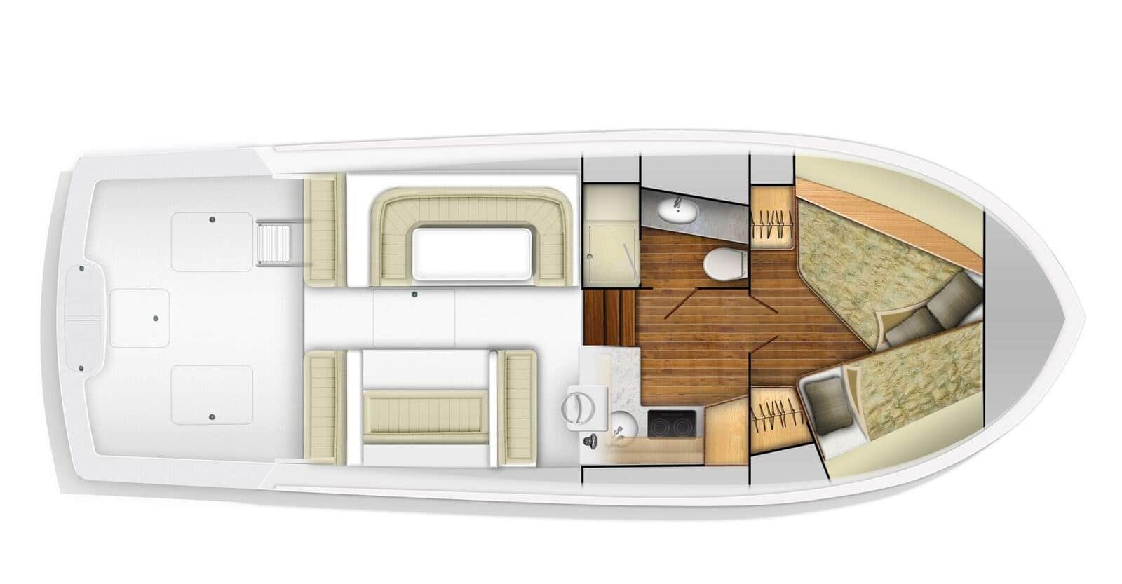 viking 37 billfisher yacht floorplan