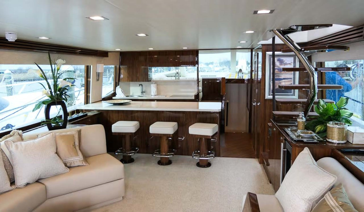 viking 75 my yacht galley view