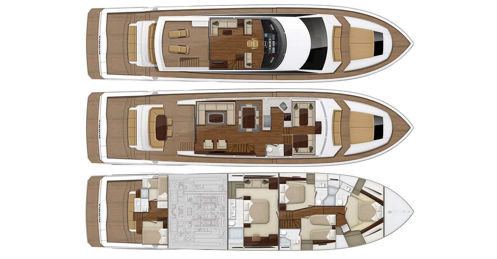 viking 82 cockpit motor yacht enclosed bridge layout