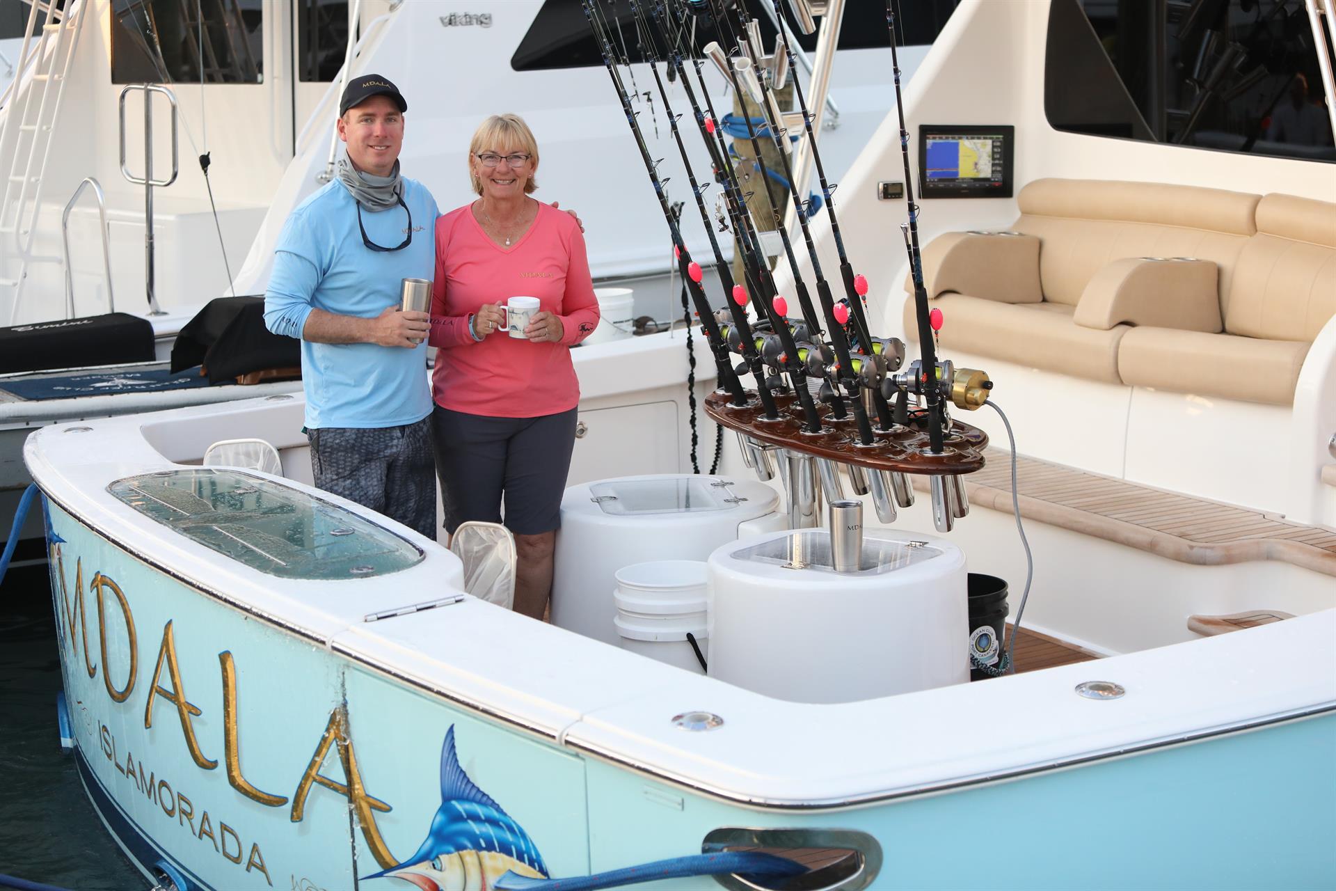 Key West Galati Team on Yacht