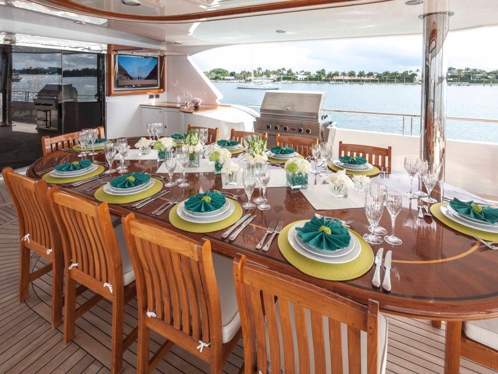 Excellence Yacht Upper Deck Dinning