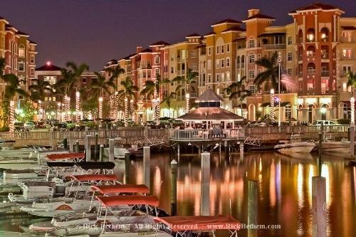 Naples Docks at night