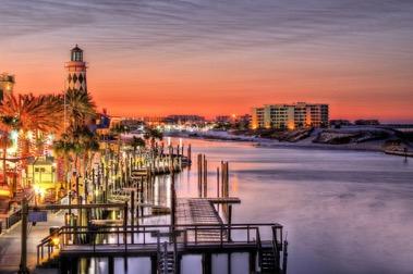 Docks twilight
