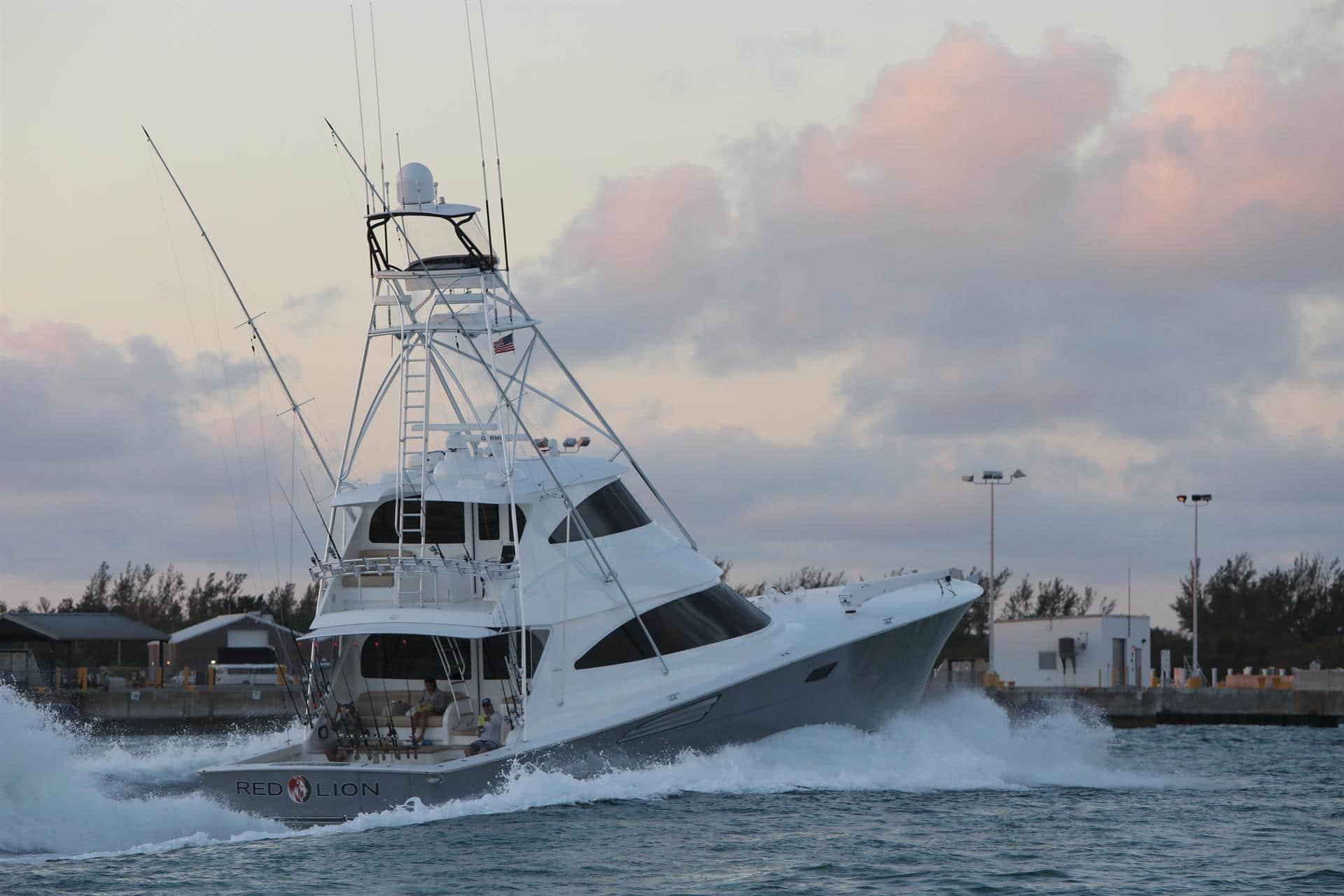 Viking Yacht sunset Key West
