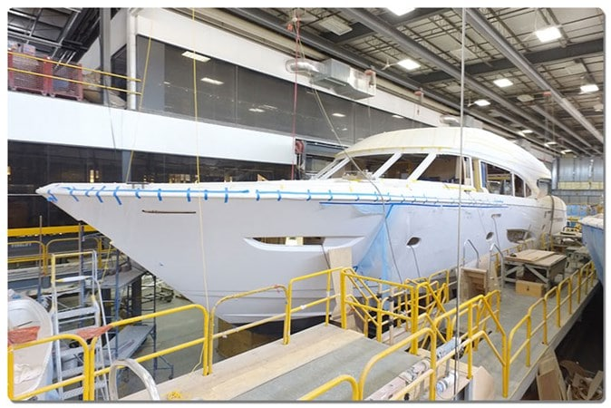 Viking 93 Motor Yacht in production