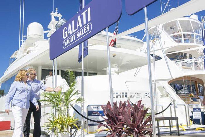Galati Yacht Sales setup at Miami Yacht Show