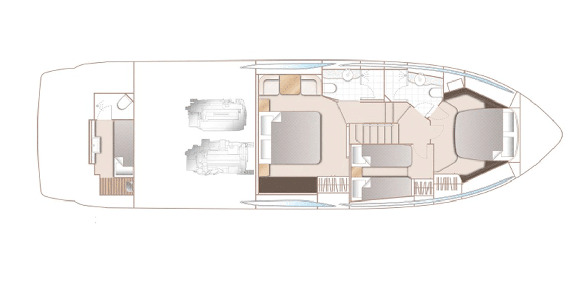 new princess 55fb_0002s_0003_princess 55 flybridge yacht accommodations layout