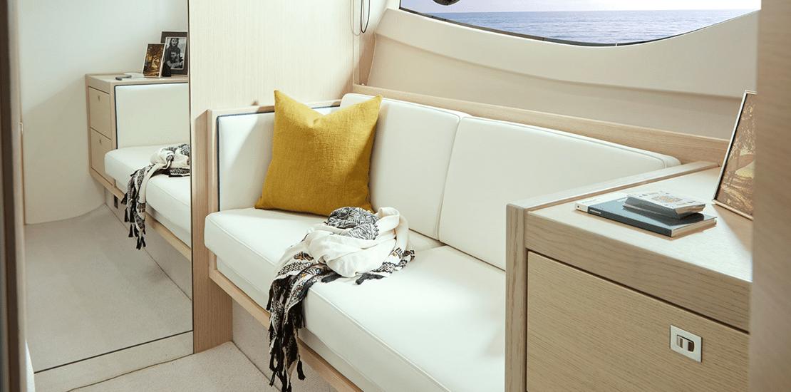 new princess v40exp_0004s_0009_princess v40 express yacht aft guest stateroom sofa