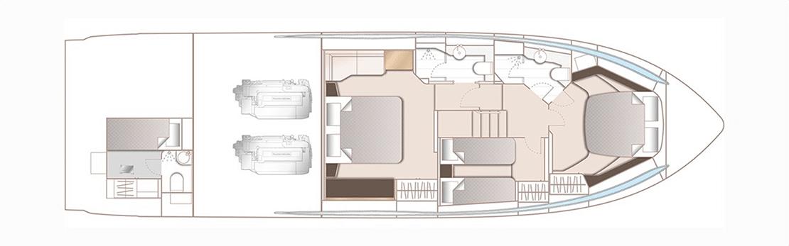 new princess v60_0001s_0002_lower deck floorplan