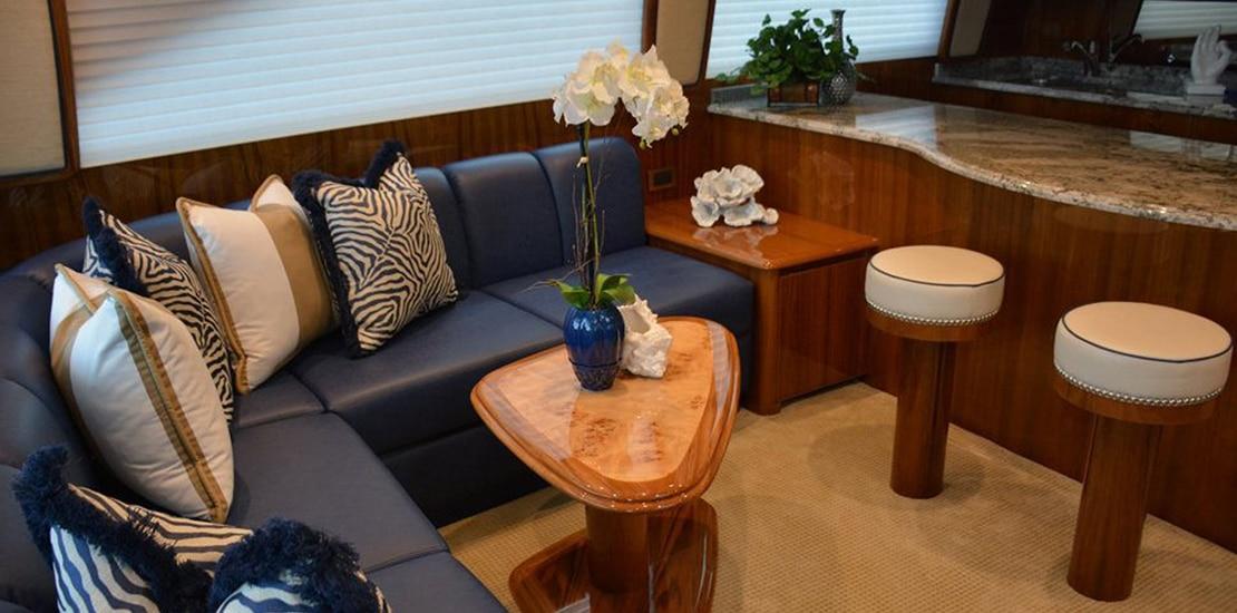viking 62 enclosed bridge yacht salon