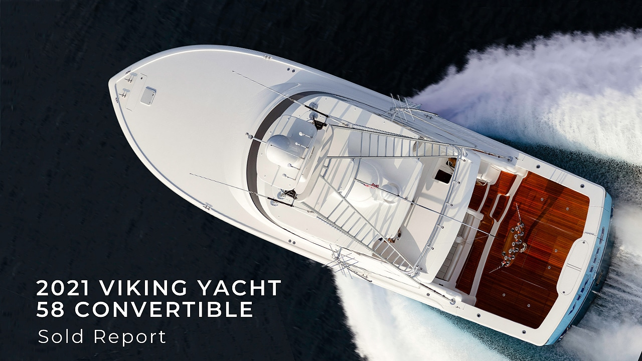 2021 58 viking yacht convertible sold report