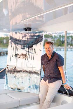 Artist at Emerald Coast Art Pop-Up Party