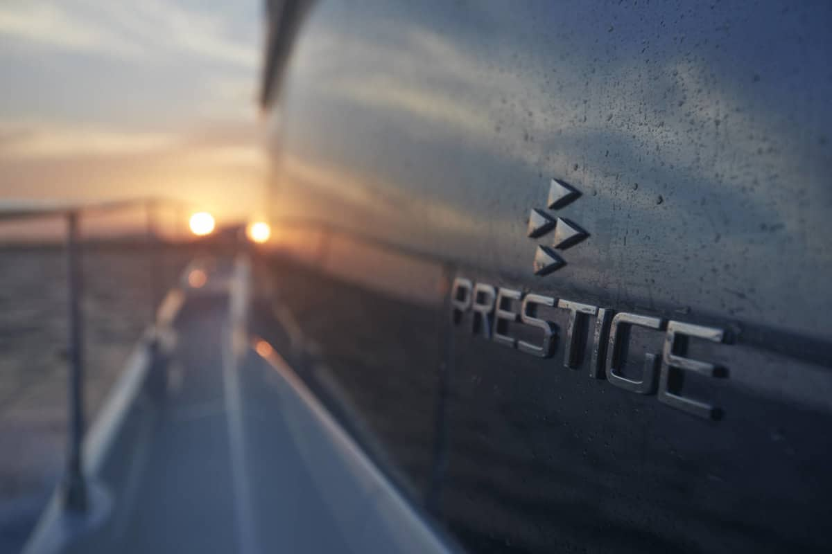 Prestige 590 detail logo