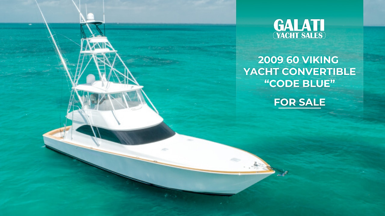 "2009 60 Viking Yacht Convertible ""Code Blue"" 