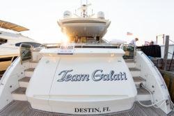 Team Galati yacht Emerald Coast Art Pop-Up Party