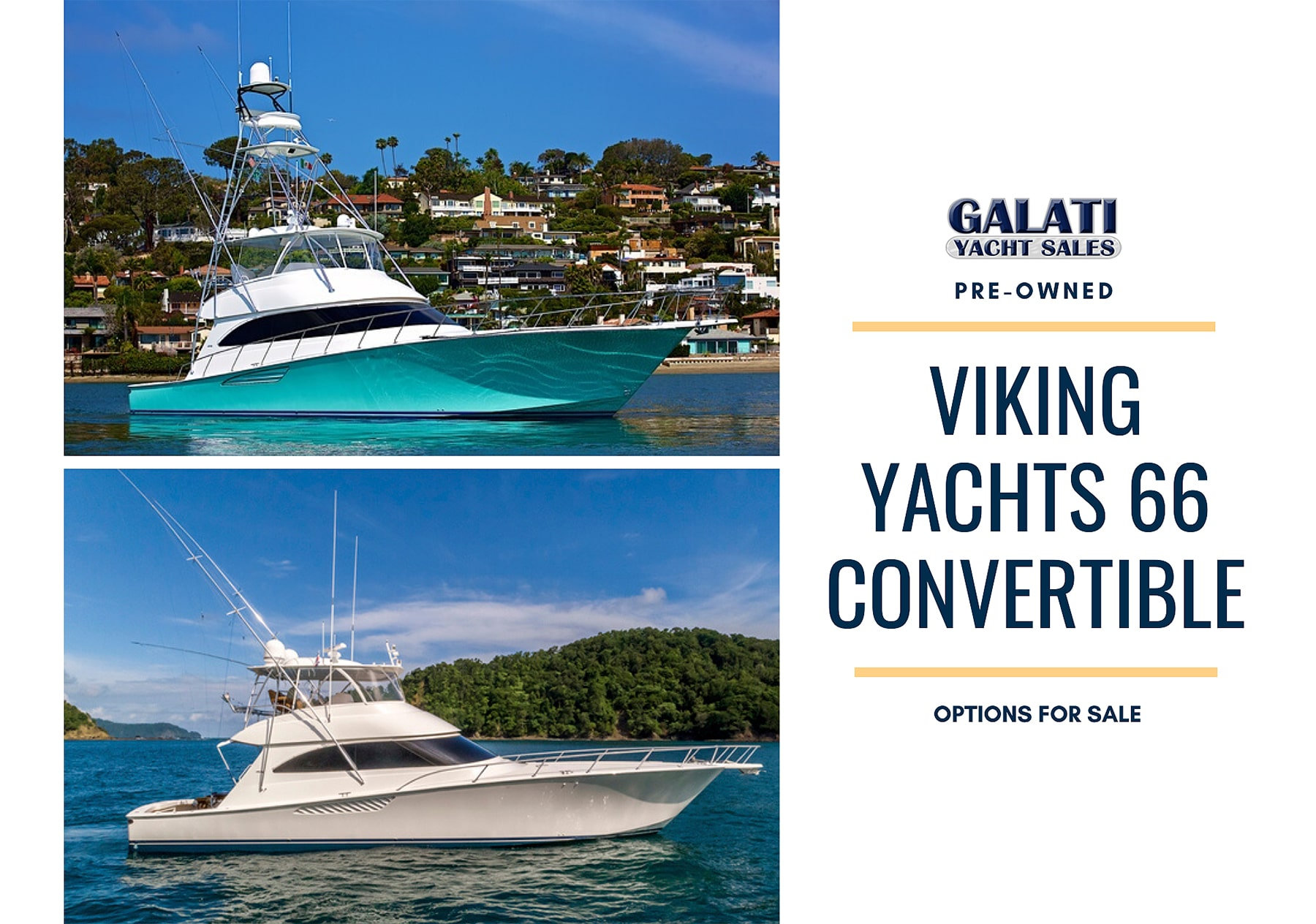 Viking Yachts 66 Convertible Options For Sale
