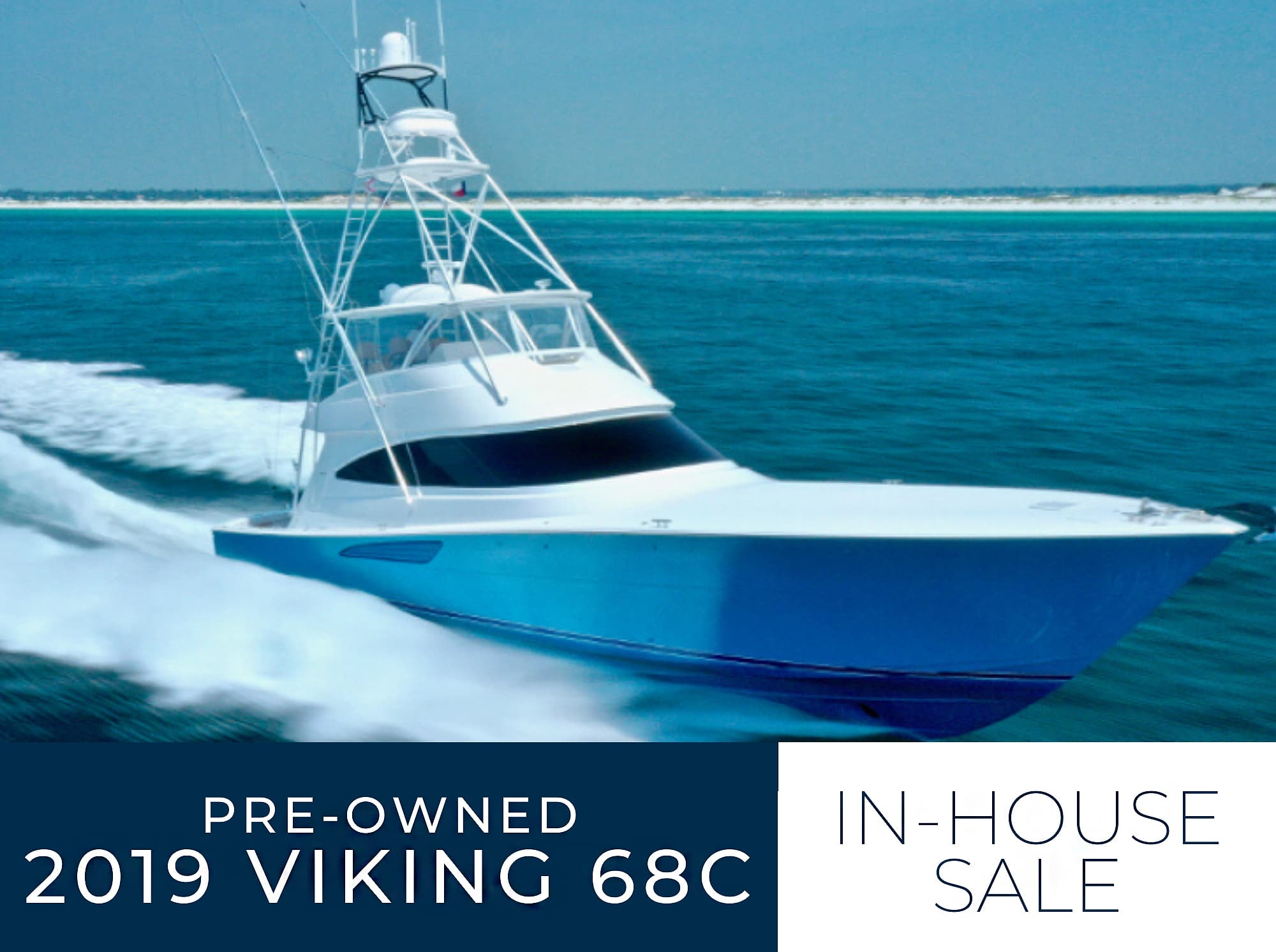 2019 68 Viking Yacht Convertible Sold