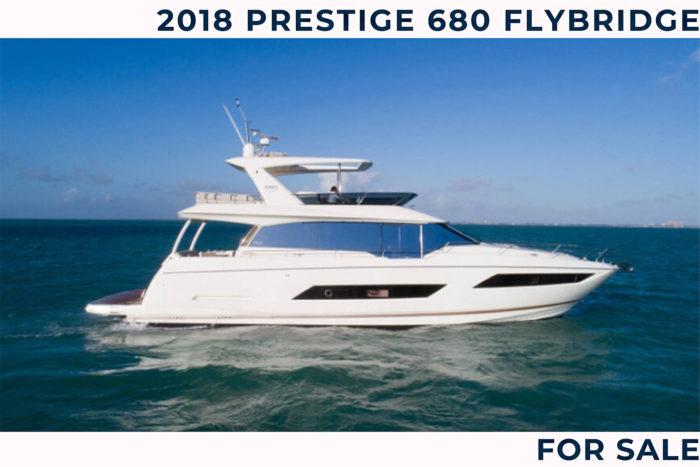 2018 Prestige 680 Flybridge